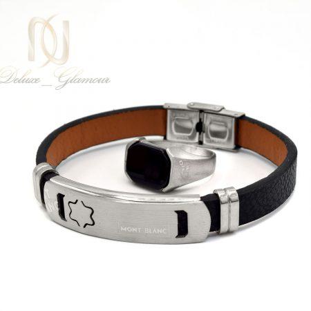 ست دستبند و انگشتر مردانه اسپرت ns-n535 از نمای سفید