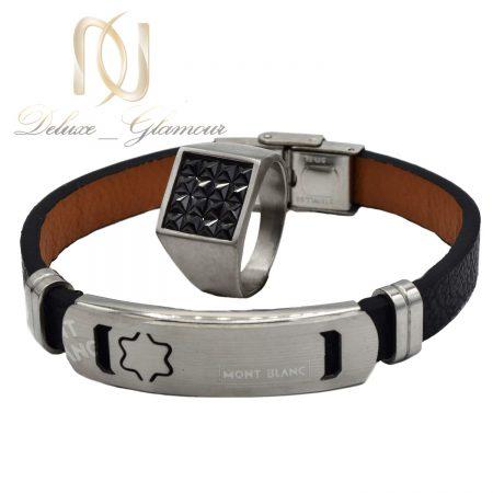ست دستبند و انگشتر مردانه مونت بلانک ns-n528
