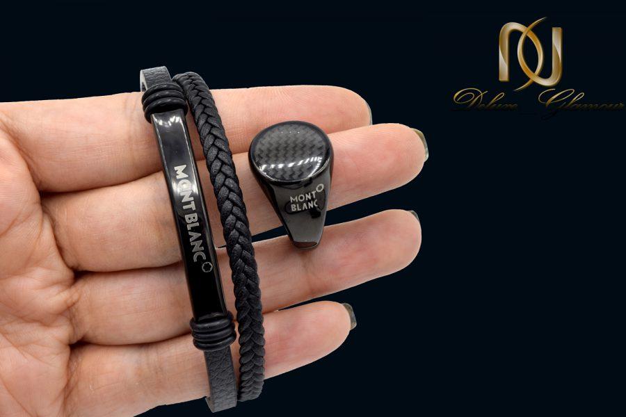 ست دستبند و انگشتر مونت بلانک مردانه ns-n530