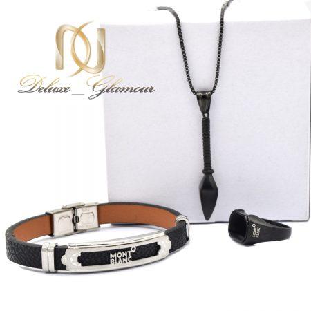 ست دستبند و انگشتر و گردنبند مردانه ns-n527