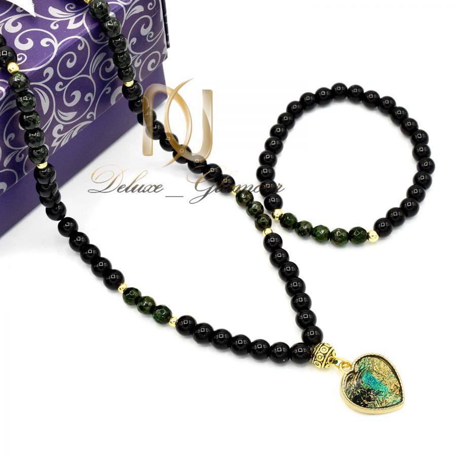 ست دستبند و گردنبند دخترانه اسپرت gh-n103 از نمای بالا