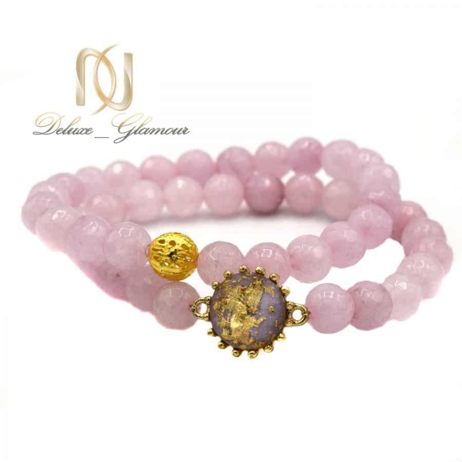 پک دستبند دخترانه سنگ عقیق صورتی ds-n587