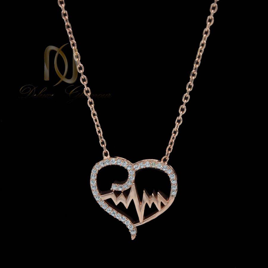 گردنبند نقره دخترانه ضربان قلب nw-n665