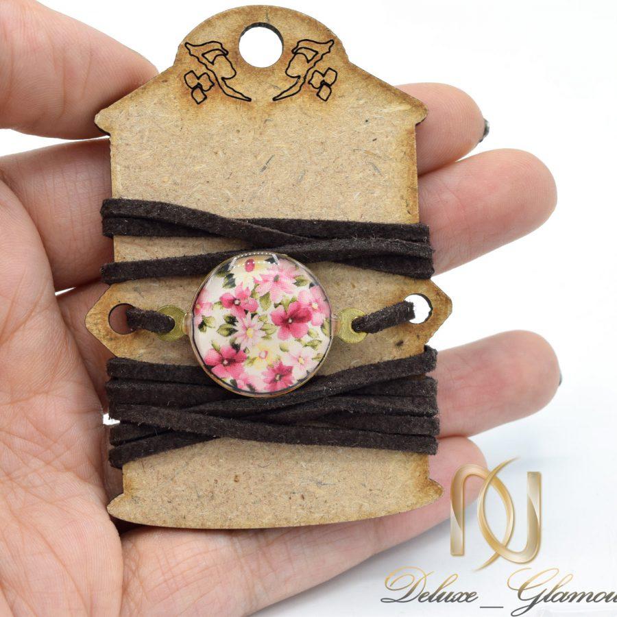 دستبند دخترانه رزینی طرح گل ds-n602