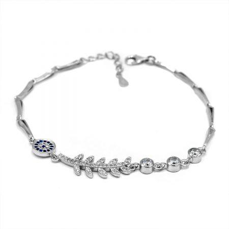 دستبند دخترانه نقره عیار 925 اصل ds-n606