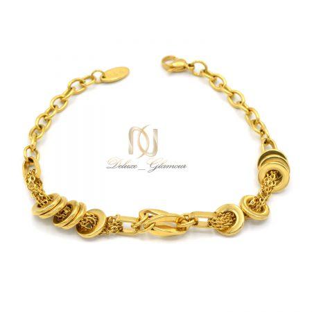 دستبند زنانه طرح طلای استیل ds-n600 از نمای سفید