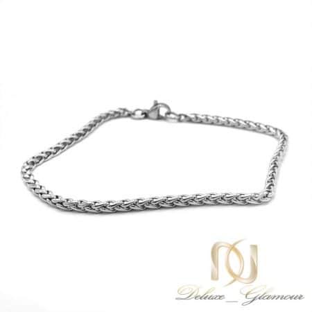 دستبند زنانه ظریف زنجیری طرح طلا ds-n601 از نمای سفید