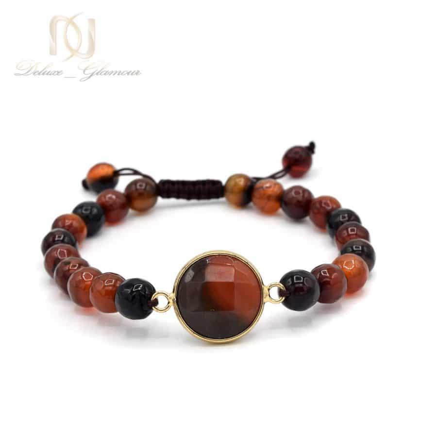 دستبند سنگ عقیق دخترانه اسپرت za-n403