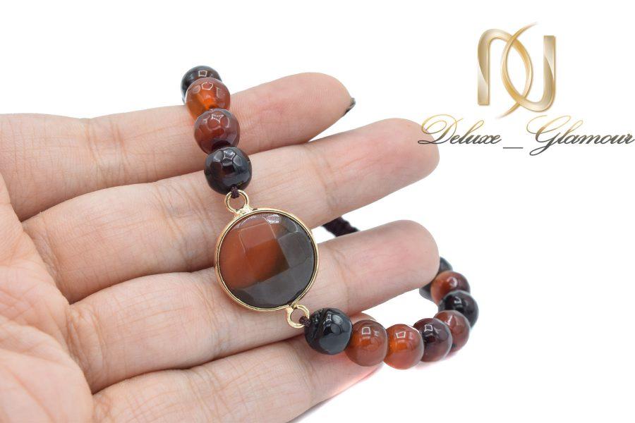 دستبند سنگ عقیق دخترانه طرح جدید za-n403