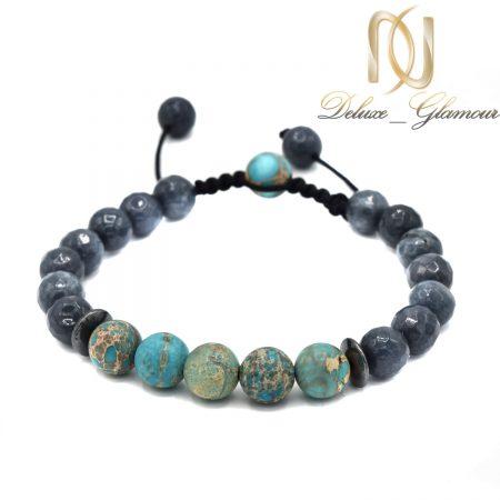 دستبند سنگ عقیق و فیروزه آفریقایی za-n407