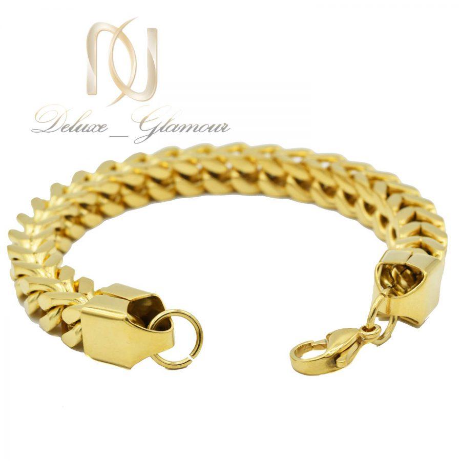 دستبند مردانه زنجیری طلایی ds-n591