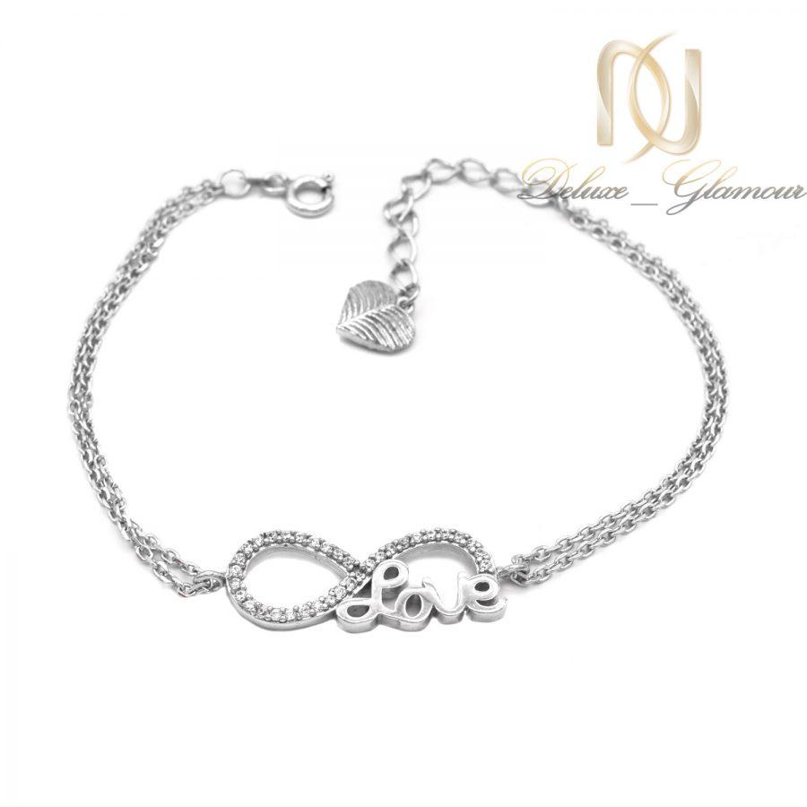 دستبند نقره دخترانه بی نهایت جدید ds-n598