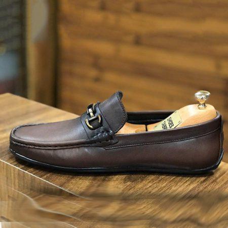 کفش مردانه چرم طرح کالج sh-n116