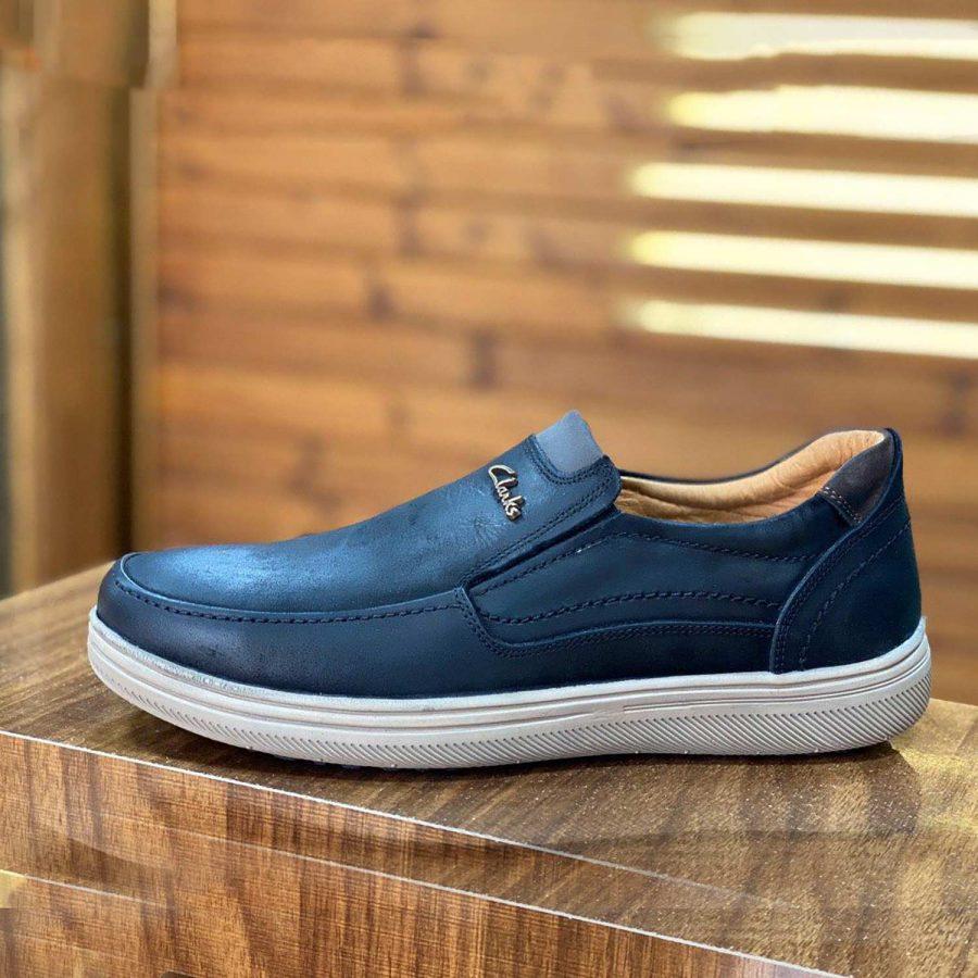 کفش مردانه چرم طرح کلارک مشکی SH-N130