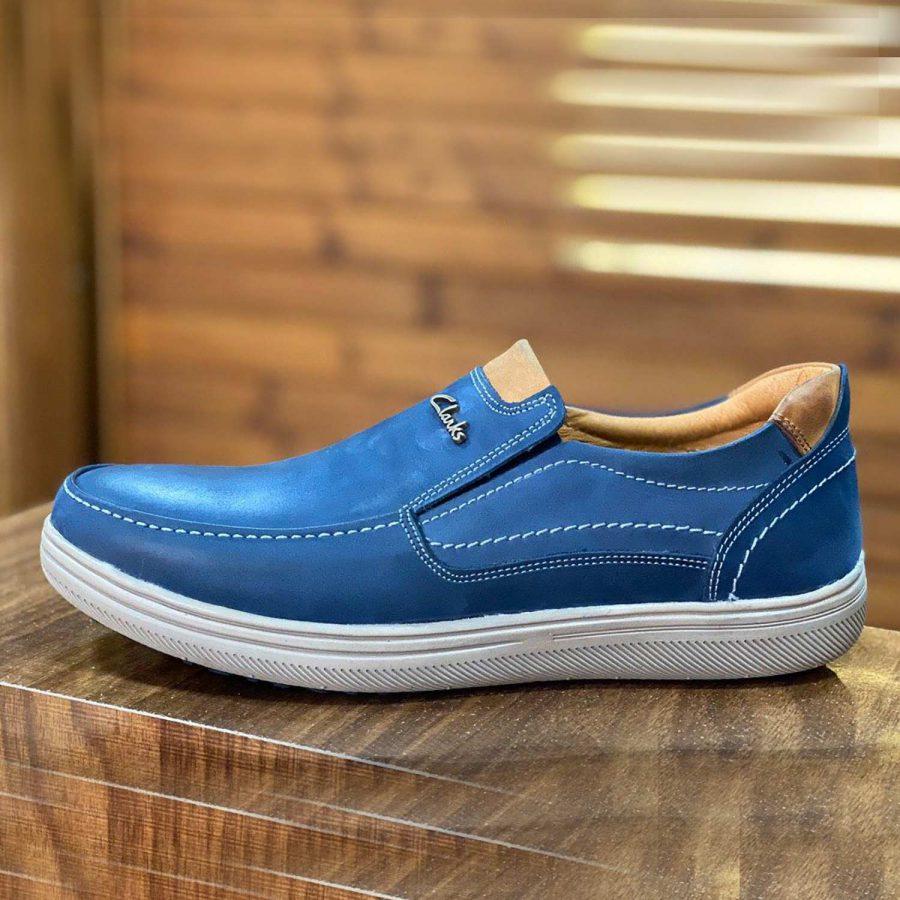 کفش مردانه چرم طرح کلارک sh-n128 از نمای روبرو