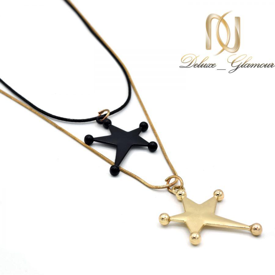 گردنبند رولباسی طرح ستاره دو ردیفه nw-n676