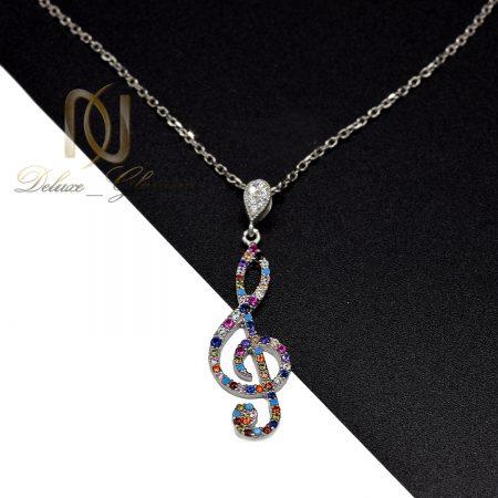 گردنبند نقره دخترانه طرح کلید سل nw-n675 از نمای روبرو