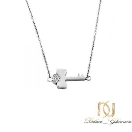گردنبند ژوپینگ دخترانه طرح کلید nw-n671 از نمای سفید
