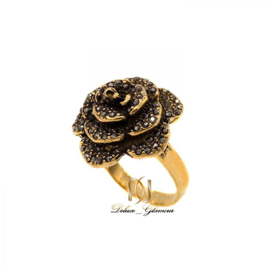 انگشتر رز زنانه طلا روس برنجی ma-n500 از نمای سفید