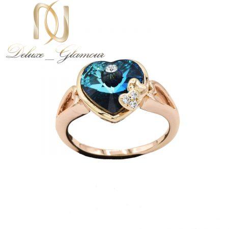 انگشتر سواروسکی طرح قلب آبی rg-n514
