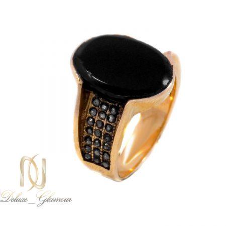انگشتر مردانه استیل طرح عقیق rg-n502 از نمای سفید