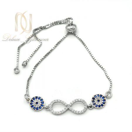 دستبند بی نهایت نقره دخترانه کراواتی ds-n626