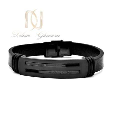 دستبند مردانه چرمی مونت بلانک ds-n623 از نمای سفید