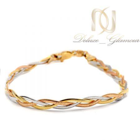 دستبند ژوپینگ زنانه طرح ایتالیایی ds-n612 از نمای روبرو