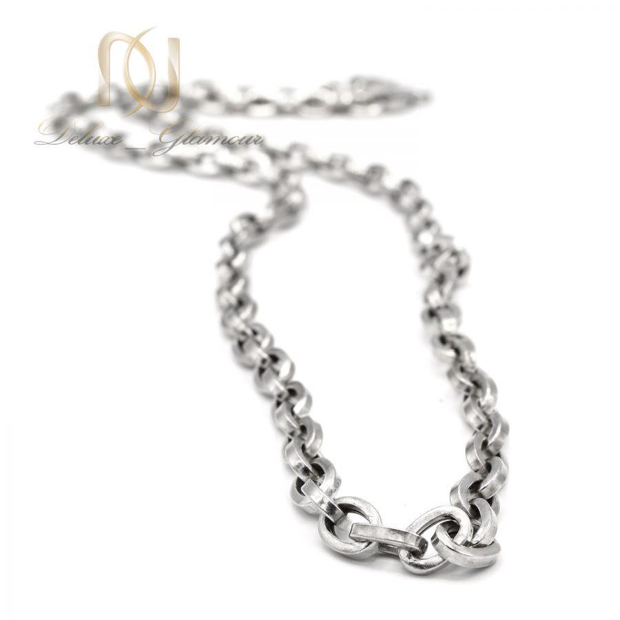 زنجیر مردانه نقره 925 اصل بلند nw-n700 از نمای نزدیک