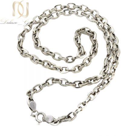 زنجیر مردانه نقره 925 اصل بلند nw-n700 از نمای سفید
