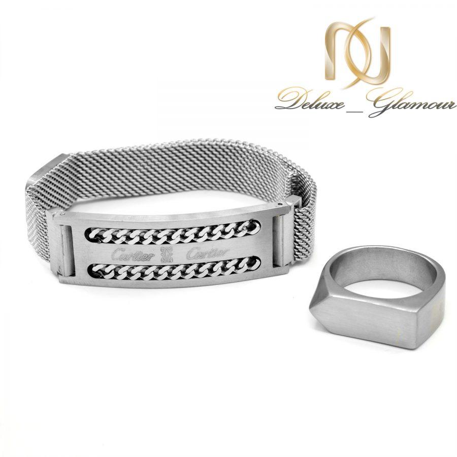 ست دستبند و انگشتر مردانه اسپرت NS-N552 از نمای روبرو