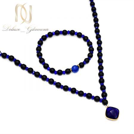 ست دستبند و گردنبند سنگی دخترانه ns-n553