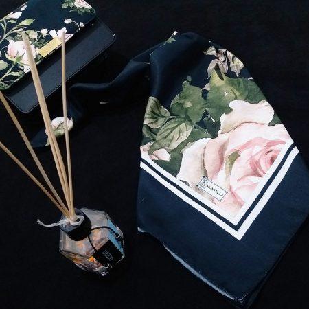 ست کیف و روسری گلهای بهاری از نمای نزدیک