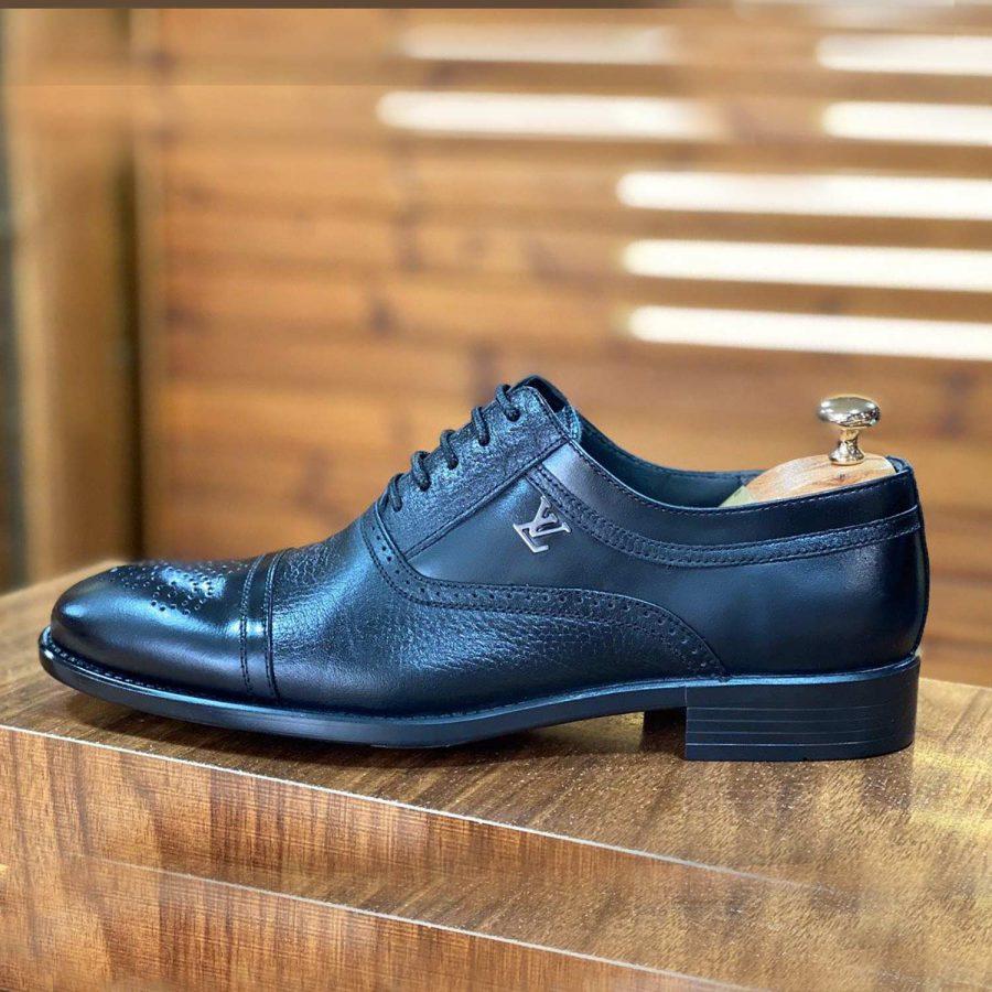 کفش مردانه چرم طرح لویی ویتون sh-n138