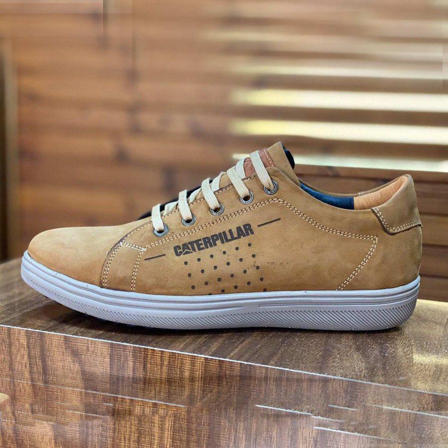 کفش مردانه چرم طرح کاترپیلار sh-n144 از نمای روبرو
