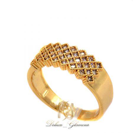 انگشتر زنانه استیل طرح طلا ma-n515 از نمای سفید