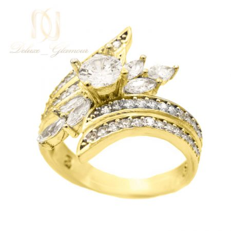 انگشتر نقره زنانه طرح طلا rg-n517 از نمای روبرو
