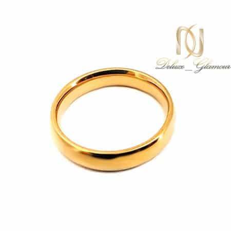 حلقه استیل طلایی طرح طلا rg-n515 از نمای سفید