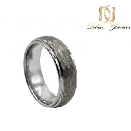 حلقه مردانه تنگستن نقره ای rg-n514 از نمای روبرو