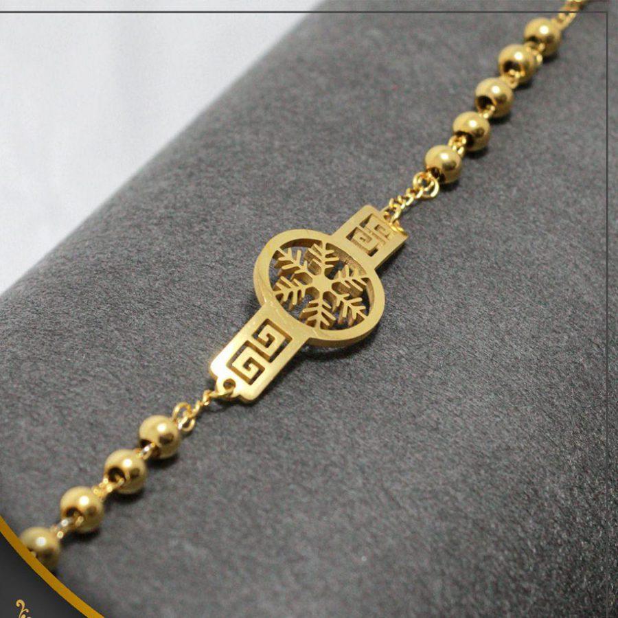 دستبند استیل عمده دخترانه ba-n111 از نمای روبرو