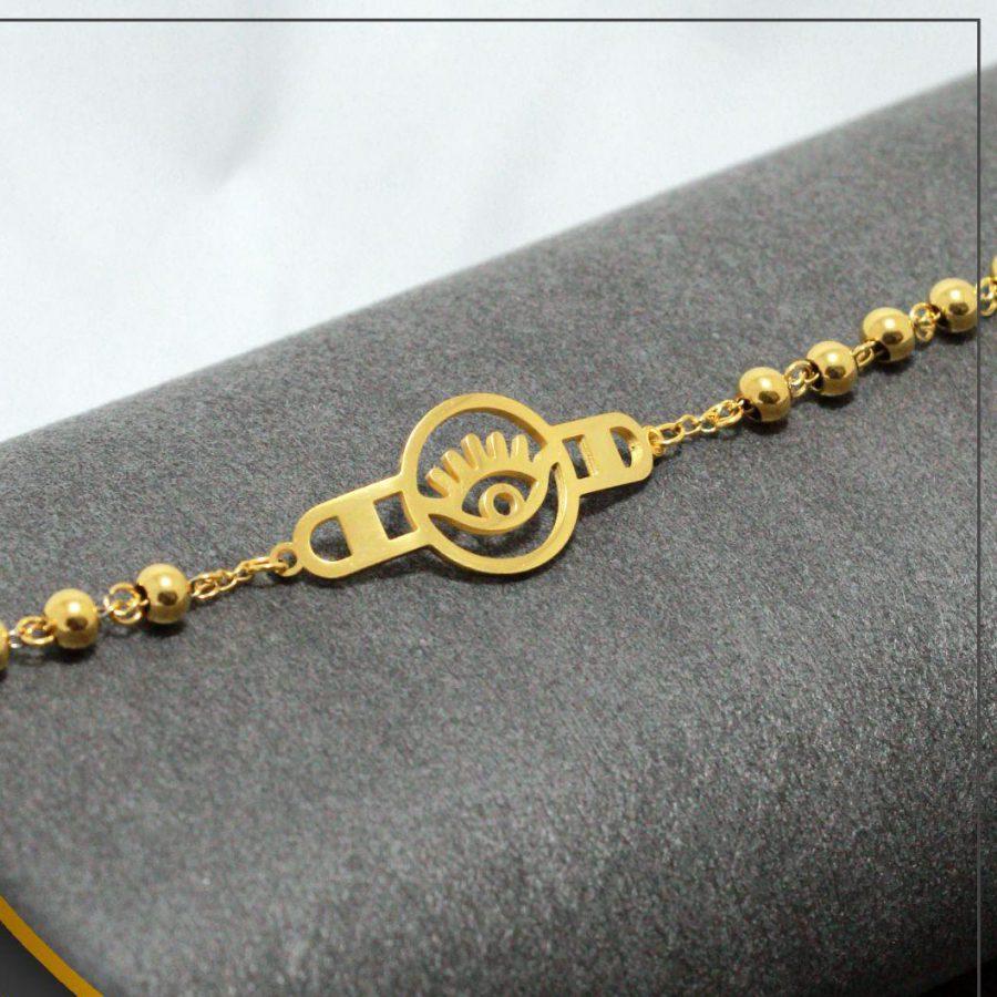 دستبند دخترانه استیل عمده ba-n113 از نمای دور