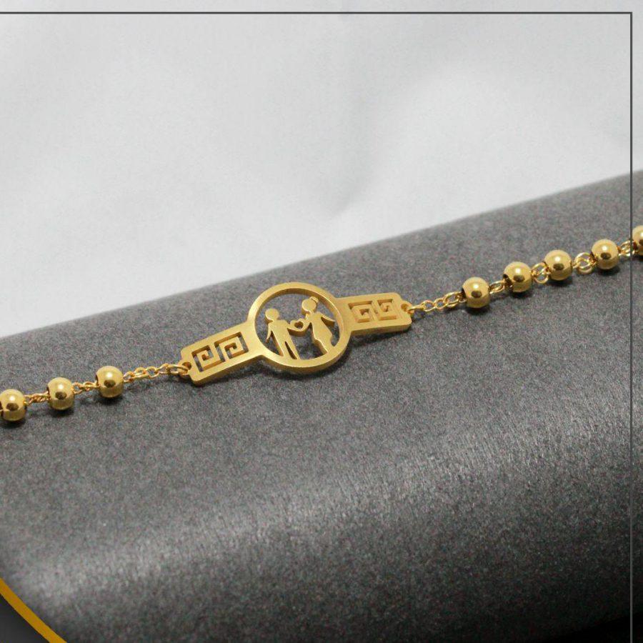 دستبند دخترانه عمده استیل ba-n112 از نمای دور