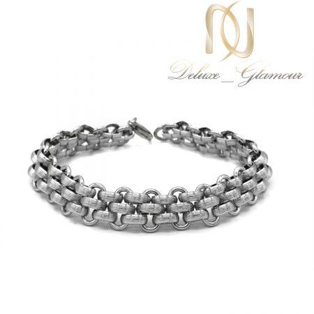 دستبند رولکس مردانه استیل ds-n637 از نمای سفید
