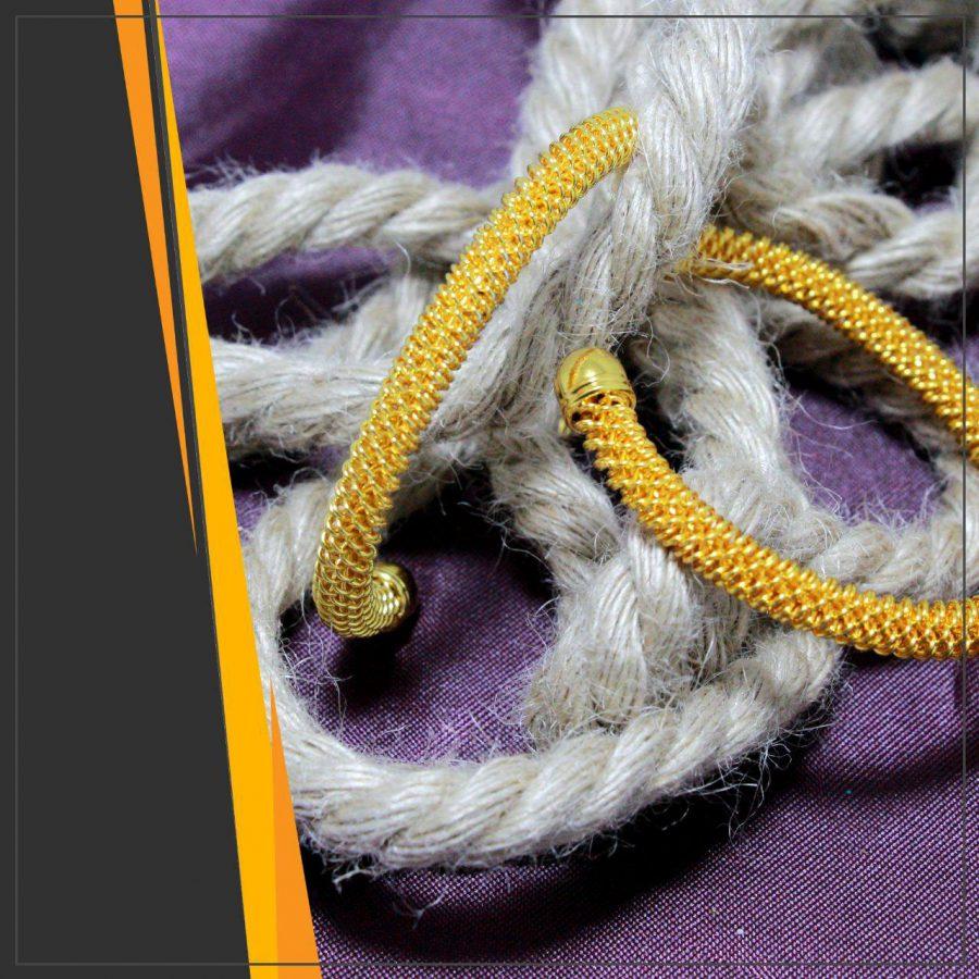 دستبند زنانه بدل طلایی ba-n109 از نمای دور