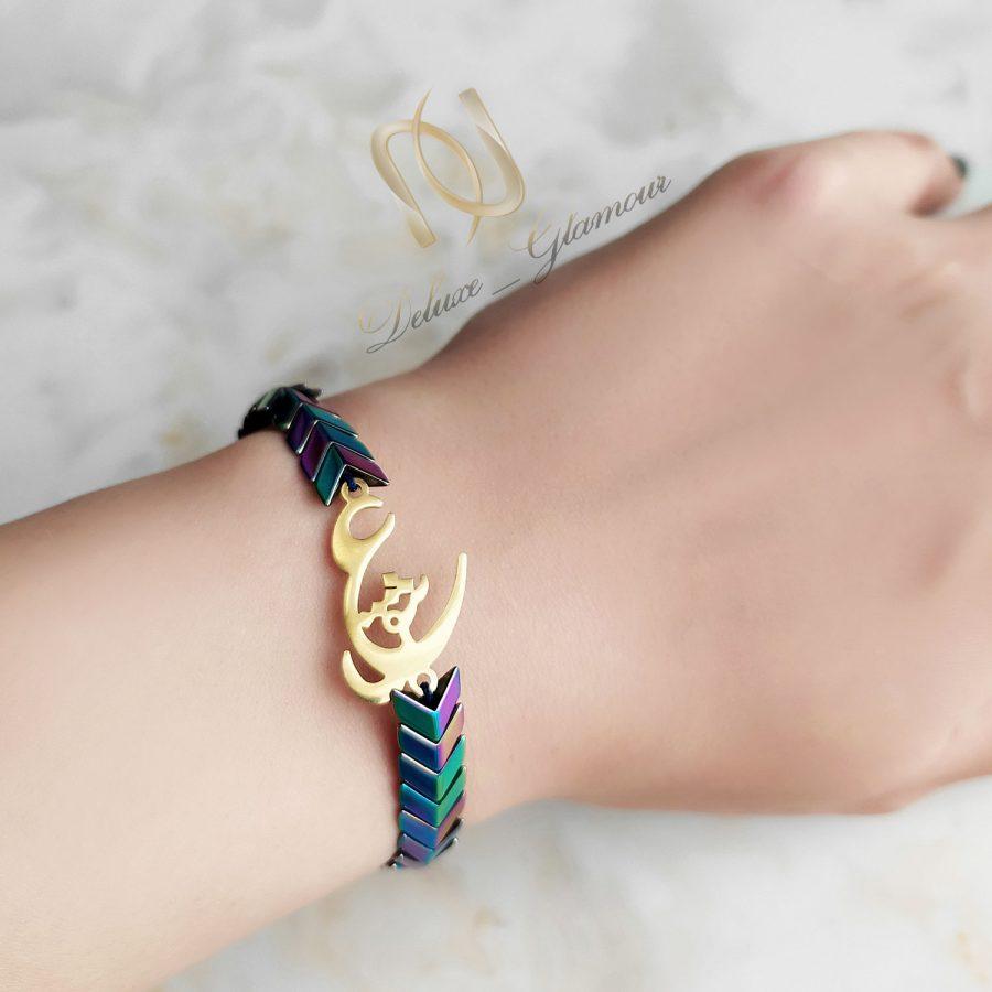 دستبند ست دو نفره عاشقانه سنگی za-n427
