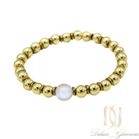 دستبند سنگ حدید دخترانه دست ساز ds-n426