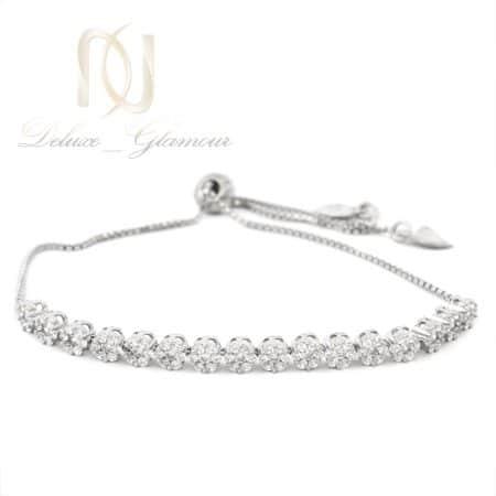 دستبند نقره دخترانه طرح فلاور ds-n636