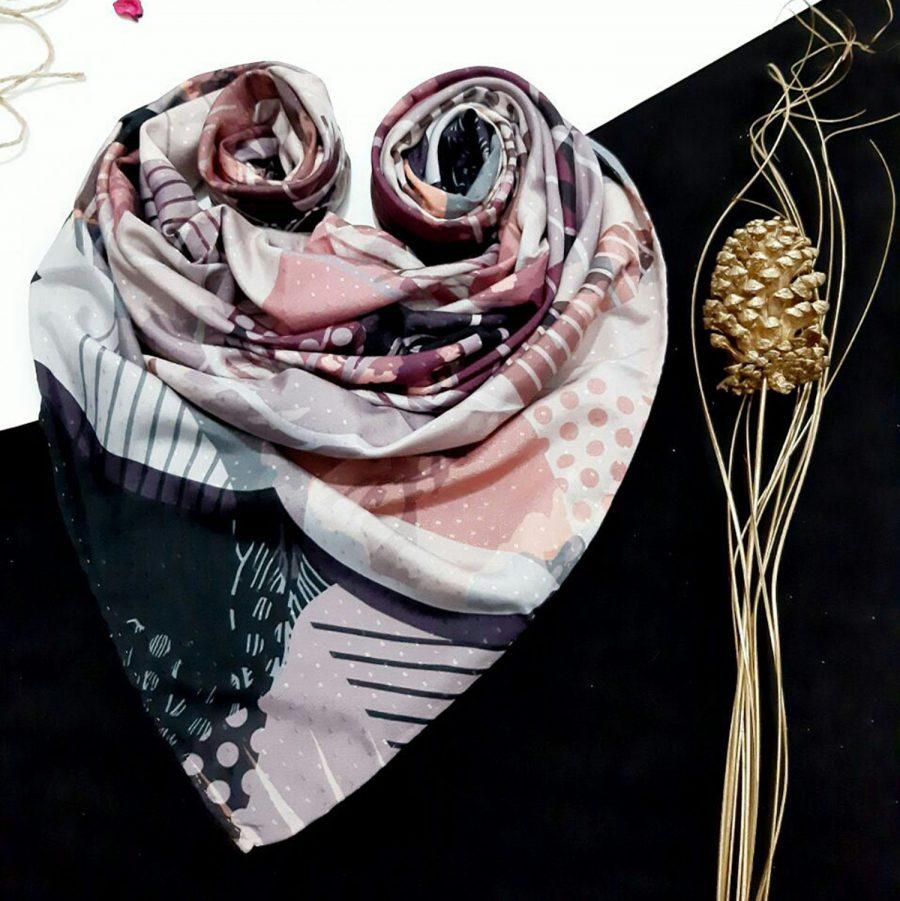 روسری نخی طرح مدرن 2 از نمای کلی