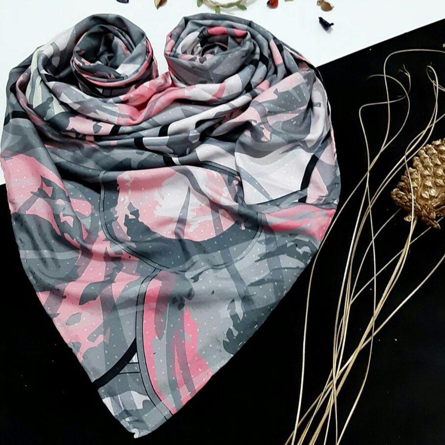 روسری نخی طرح مدرن 3 از نمای کلی