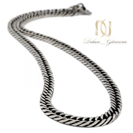 زنجیر مردانه استیل سیاه قلم nw-n710 از نمای روبرو